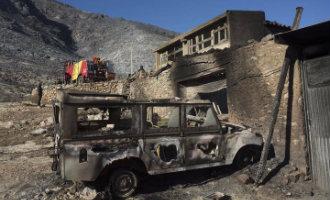 Meer dan 400 hectare natuur verwoest bij bosbrand in Culla in Castellón