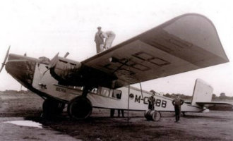 90 jaar geleden vloog het allereerste Iberia vliegtuig van Madrid naar Barcelona