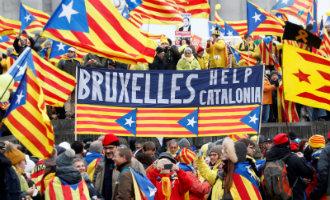Belgische politie schat het aantal deelnemers aan de manifestatie in Brussel op 45.000 personen