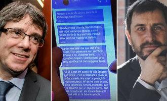 Bevestigen de gelekte telefoonberichten dat Puigdemont de strijd opgeeft?