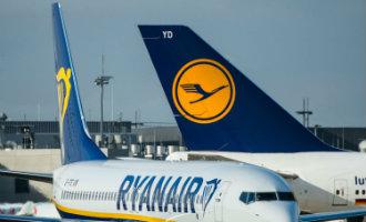 Lufthansa heeft de nummer een positie in Europa van Ryanair overgenomen
