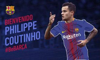 FC Barcelona neemt de Braziliaanse speler Coutinho over voor 160 miljoen euro