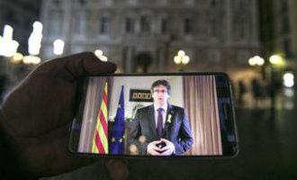 Verdeeldheid, spanningen en onzekerheden over de videoconferentie beëdiging van Puigdemont