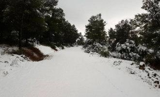 Veel sneeuwval in het noordwesten van de regio Murcia