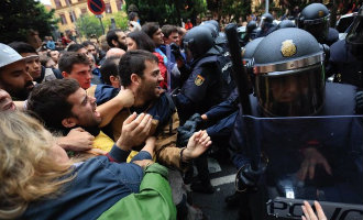 Politie aanwezigheid in Catalonië tijdens het illegale referendum heeft 87 miljoen euro gekost