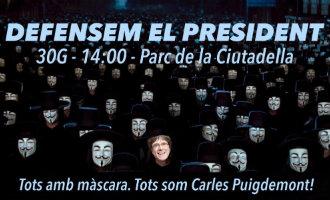 Ludieke (maar serieuze) actie van de separatisten: het Carles Puigdemont masker