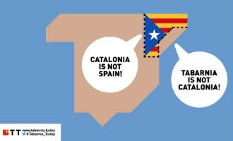 De krant Tabarnia Today met ook Nederlandse tekst en uitleg over het Catalaanse proces
