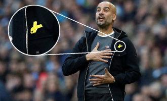 Spaanse trainer Pep Guardiola heeft een klacht ontvangen vanwege politieke boodschap met zijn gele lintje