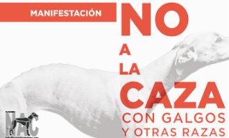 Protestmarsen tegen het jagen met honden in heel Spanje