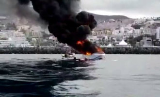 Vijf gewonden na ontploffing plezierjacht voor de kust van Tenerife (video)