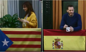 Met de smart lens van Netflix kun je de Catalaanse vlag omtoveren naar de Spaanse en vice versa