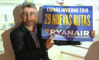Spaanse vliegvelden goed voor bijna 30 procent van het vliegverkeer voor Ryanair