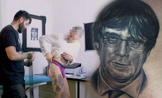 19-jarige man plaatst tatoeage van Puigdemont op zijn achterwerk