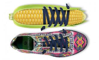 De perfecte van maïs gemaakte schoenen voor veganisten komen uit Elche