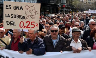 Duizenden gepensioneerden eisen tijdens manifestaties in heel Spanje een waardig pensioen