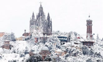 Meer dan 10 centimeter sneeuw gevallen in Barcelona