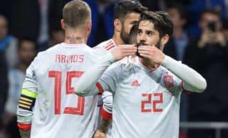 Spanje wint vriendschappelijke wedstrijd van Argentinië overtuigend met 6-1