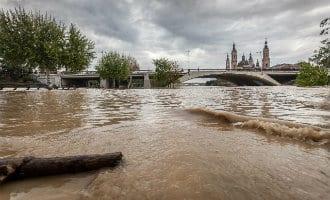 Schaapherder en schapen overleden in Aragón door stijgend water in de Ebro