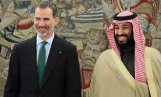 Saoedische prins met hoogste eer door Koning ontvangen in Spanje