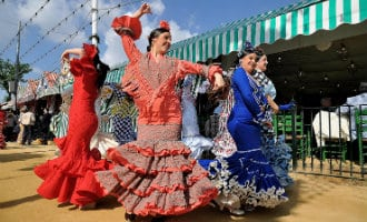 Het grootste flamenco feest van Spanje weer begonnen in Sevilla, de Feria de Abril