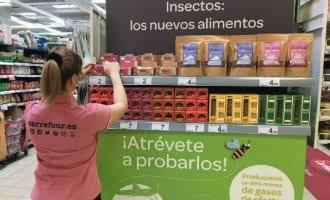 Carrefour Spanje lanceert voedingsmiddelen gemaakt met krekels en wormen