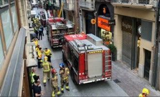 Gebouw ingestort in drukke winkelstraat in de Catalaanse stad Reus