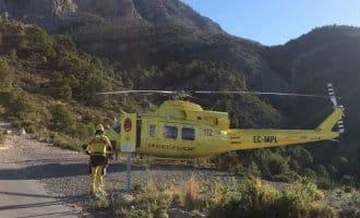 Nederlandse wandelaarster met helikopter gered in Altea
