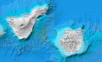 Meer dan 50 kleinere aardbevingen rondom vulkaan tussen Tenerife en Gran Canaria
