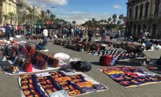 Top Manta verkopers langs de Spaanse kust