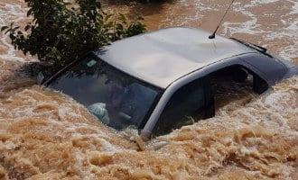 Grote storm met veel wateroverlast in Valencia