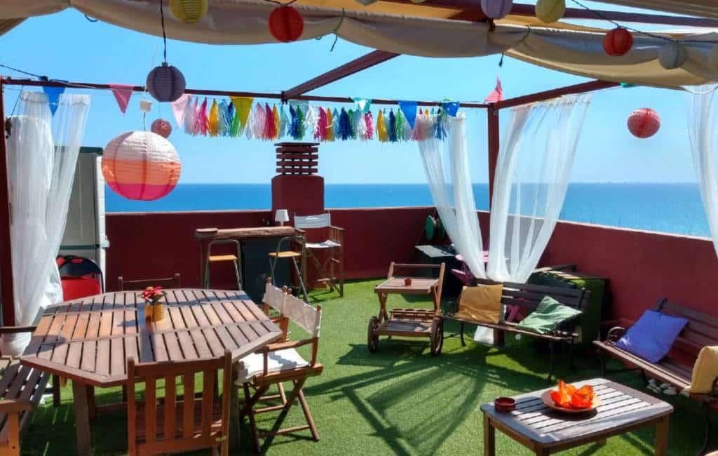 Een terras verhuren/huren voor barbecues en feestjes in Spanje