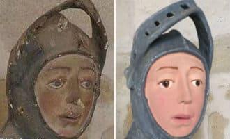 Mislukte restauratie Sint-Joris beeld Navarra
