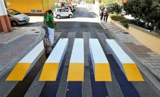 Spanje's eerste 3D zebrapad ligt in Valencia