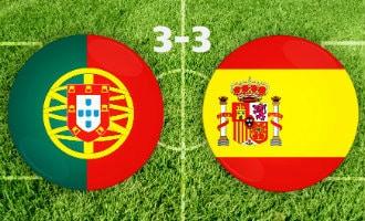 WK-2018: Spanje en Portugal spelen 3-3 gelijk in openingswedstrijd Groep B