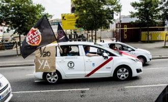Taxichauffeurs Madrid staken ook om solidair te zijn met collega's Barcelona