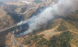 Eerste echte bosbrand aan de Costa del Sol nabij Mijas onder controle