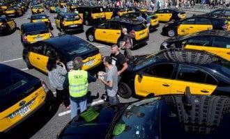Taxichauffeurs Barcelona gaan door met staken