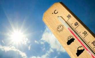 Valencia en Mucia met hoogste temperaturen