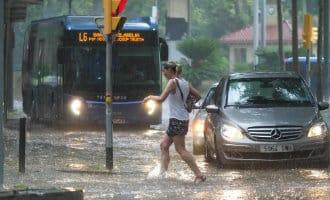 Enorme stortbui zorgt voor wateroverlast in de provincie Gerona