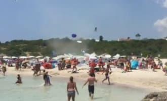 Zie hier wat een windhoos kan doen op een strand van Menorca (video)