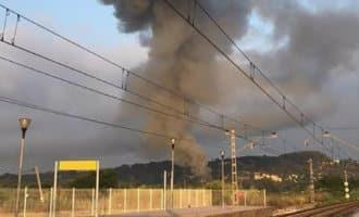 Grote brand op Camping Tamarit in Tarragona