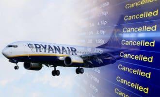 StakingRyanair: Lijst met uit Spanje vertrekkende vluchten die geannuleerd zijn