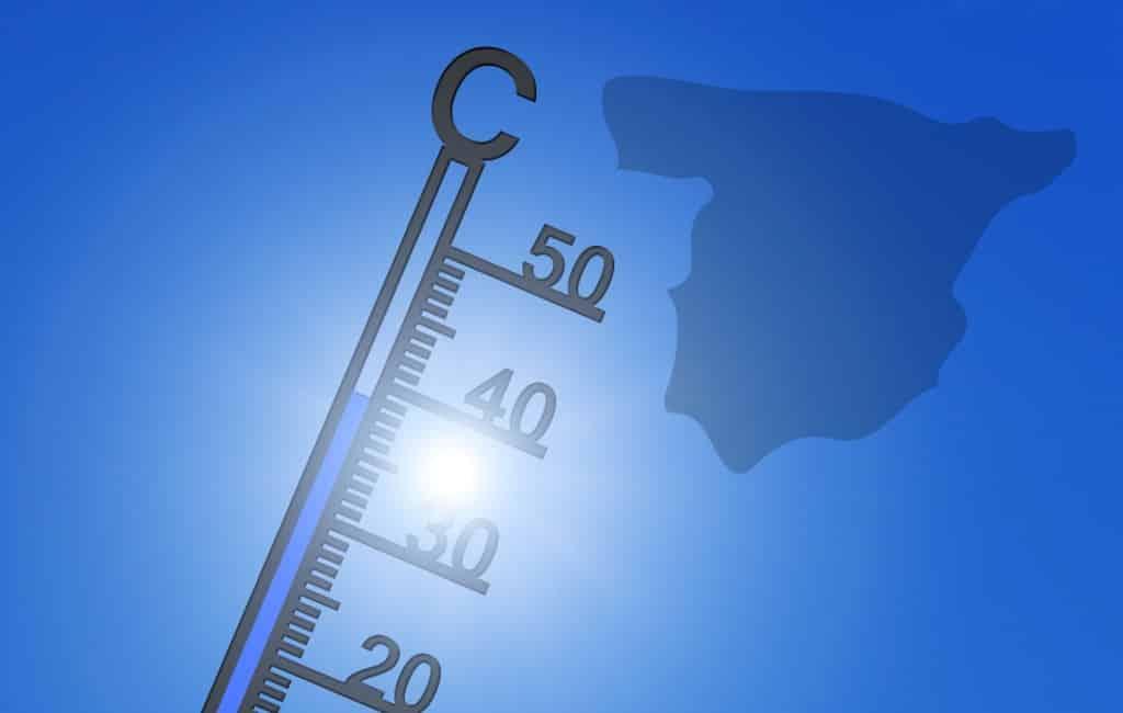 Plaatsen met de hoogste temperaturen van Spanje