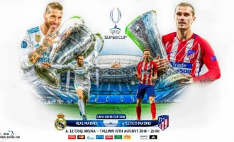 Europese UEFA Supercup tussen Real madrid en Atlético Madrid