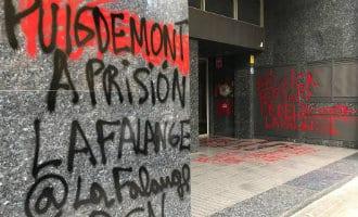 Belgische Consulaat in Barcelona beklad met fascistische leuzen