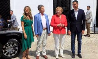 Ontmoeting tussen Sánchez en Merkel in Cádiz