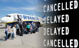 Ryanair annuleert 158 vluchten in heel Europa waarvan 64 met Spanje