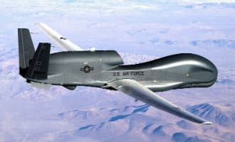 Amerikaanse supermoderne drone stort in zee voor de kust van Cádiz