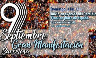 9-S: Manifestatie van niet-nationalisten in Barcelona