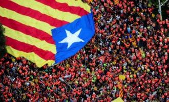 11-september La Diada in Catalonië met 1 miljoen deelnemers of niet